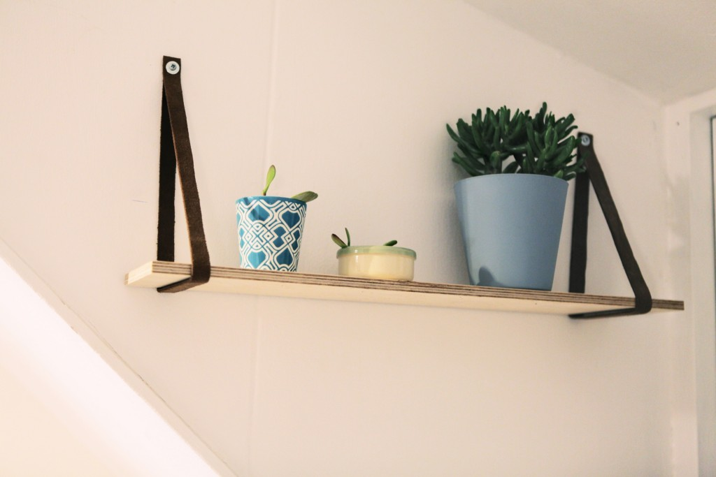 leather hanging shelf