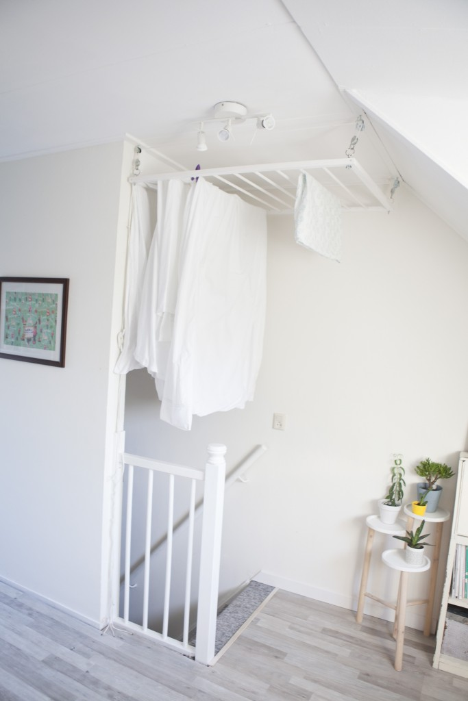 laundry hanging drying rack pulley